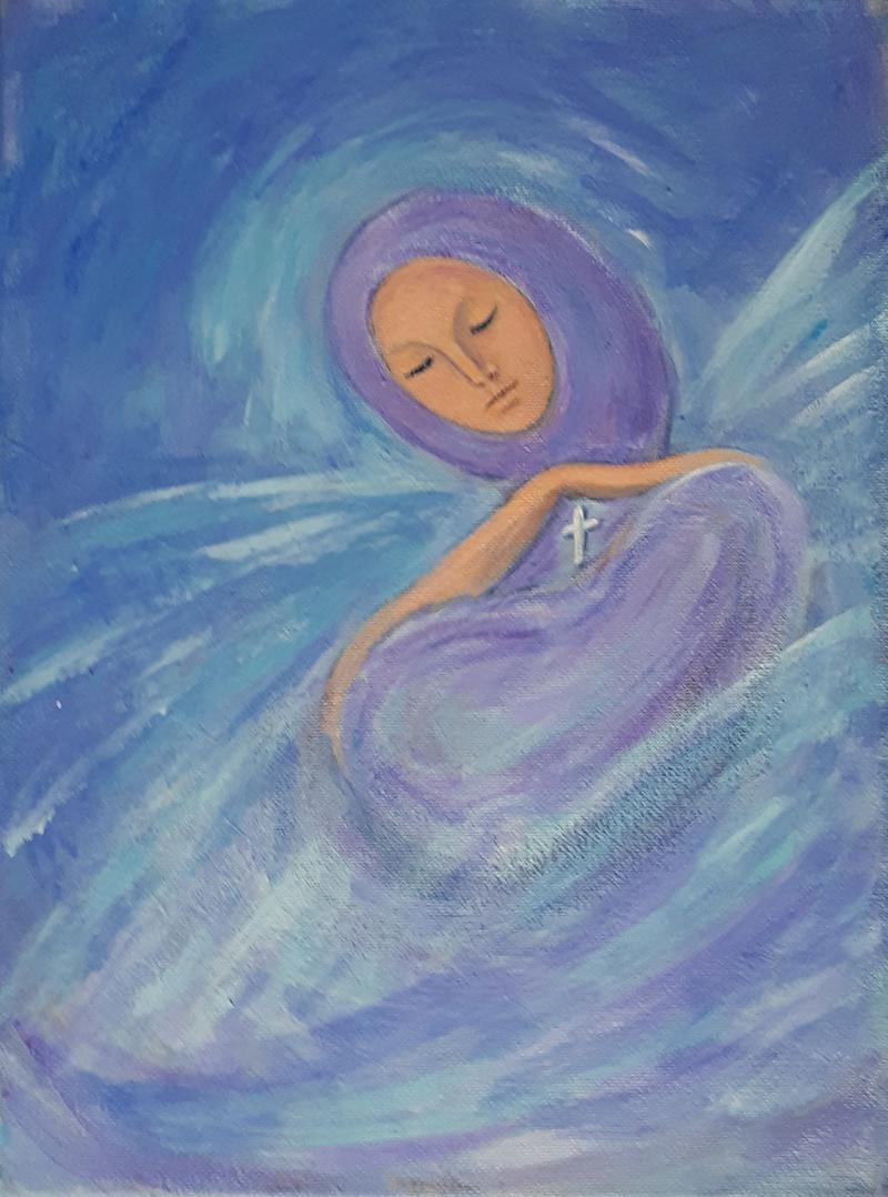 Angel, acrylic on canvas, 12x9